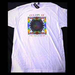 Coldplay A Head Full of Dreams T- Shirt size Large